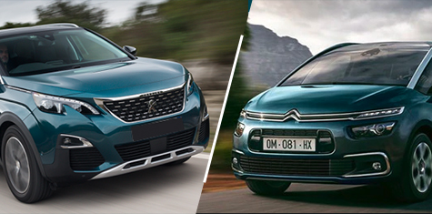 Le Match Citroen Grand C4 Spacetourer Versus Peugeot 5008